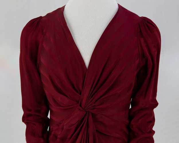 maroon silk long dress